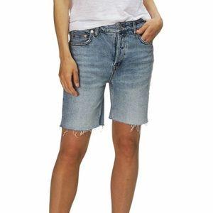 Free People- Blue Denim Bermuda Shorts- Sz: 26